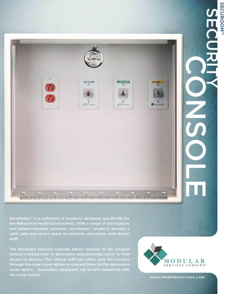 SecuRoom™ Recessed Security Console Brochure