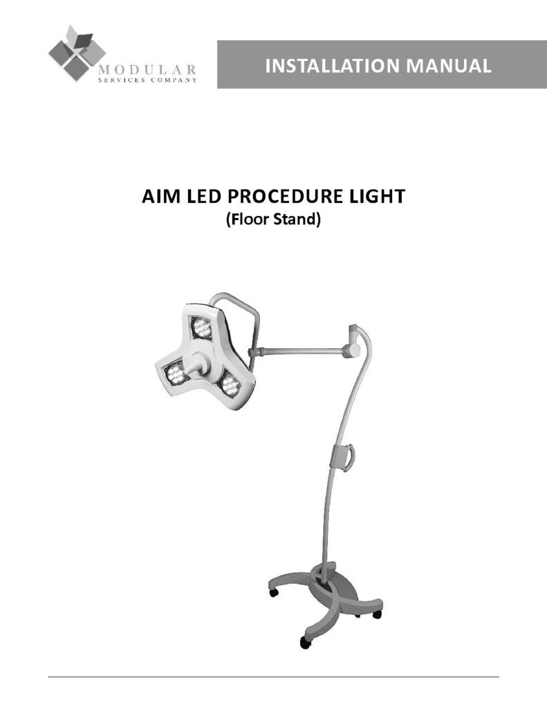 AIM LED Procedure Light (Floor Stand) Installation Manual