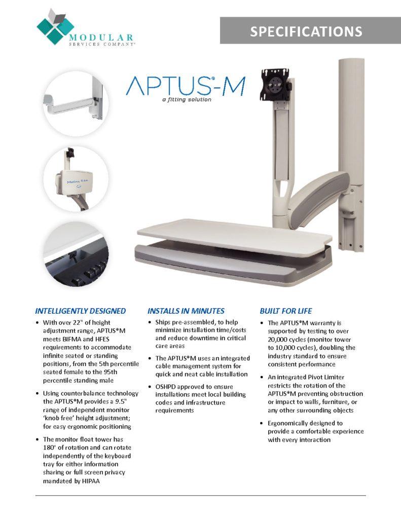 APTUS® M Workstation Specs