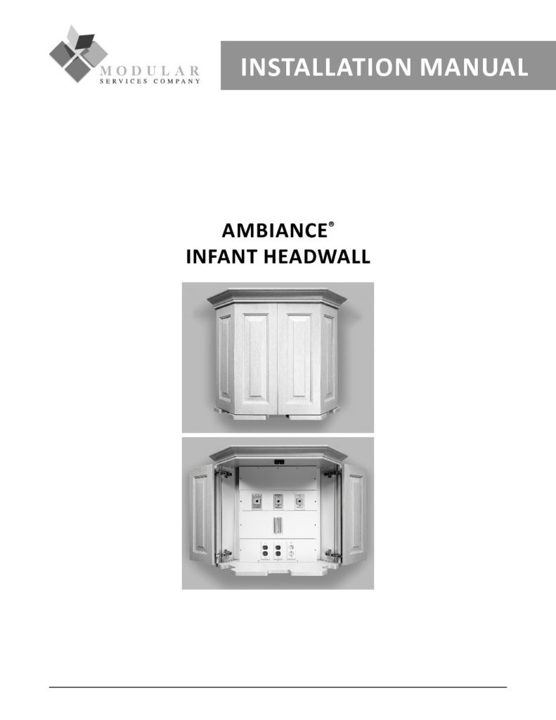 Ambiance® Infant Headwall Installation Manual