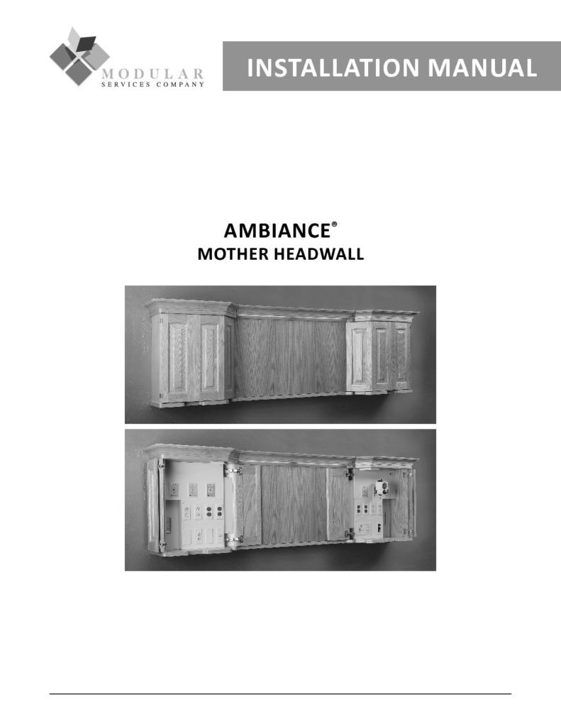 Ambiance® Mother Headwall Installation Manual
