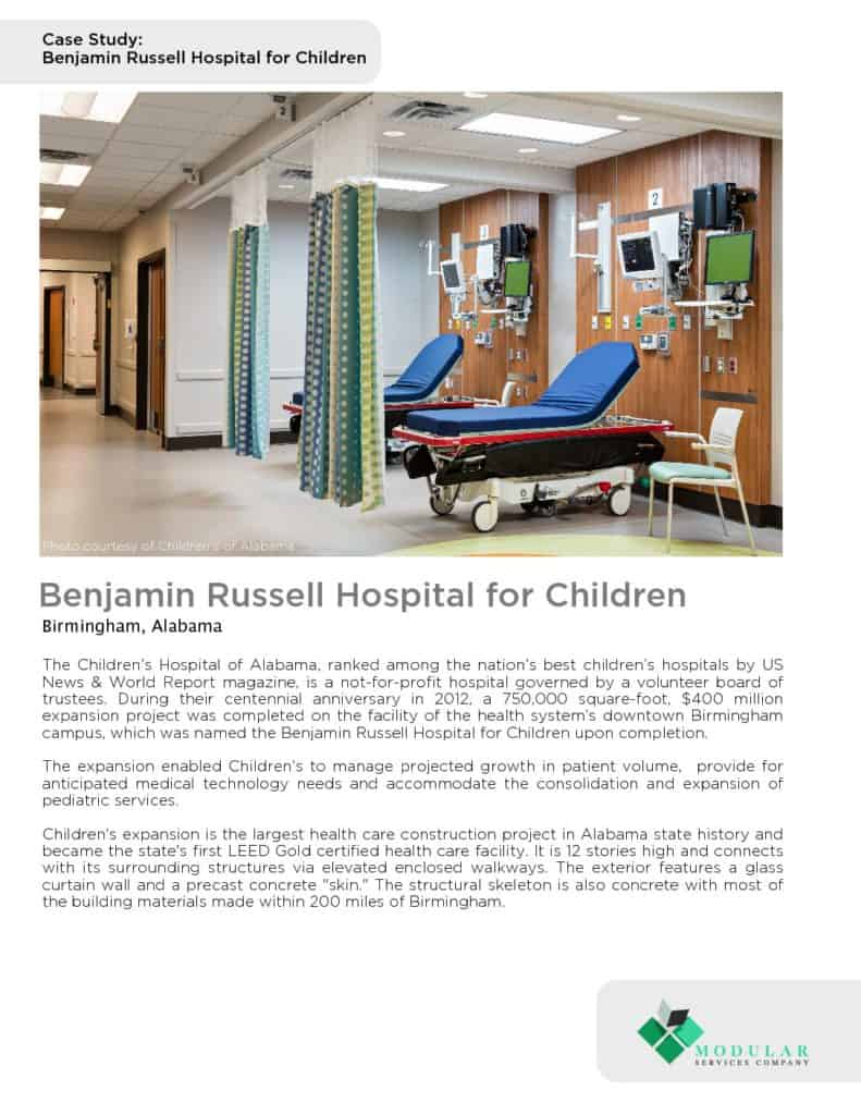 Method® : Benjamin Russell Hospital For Children Case Study