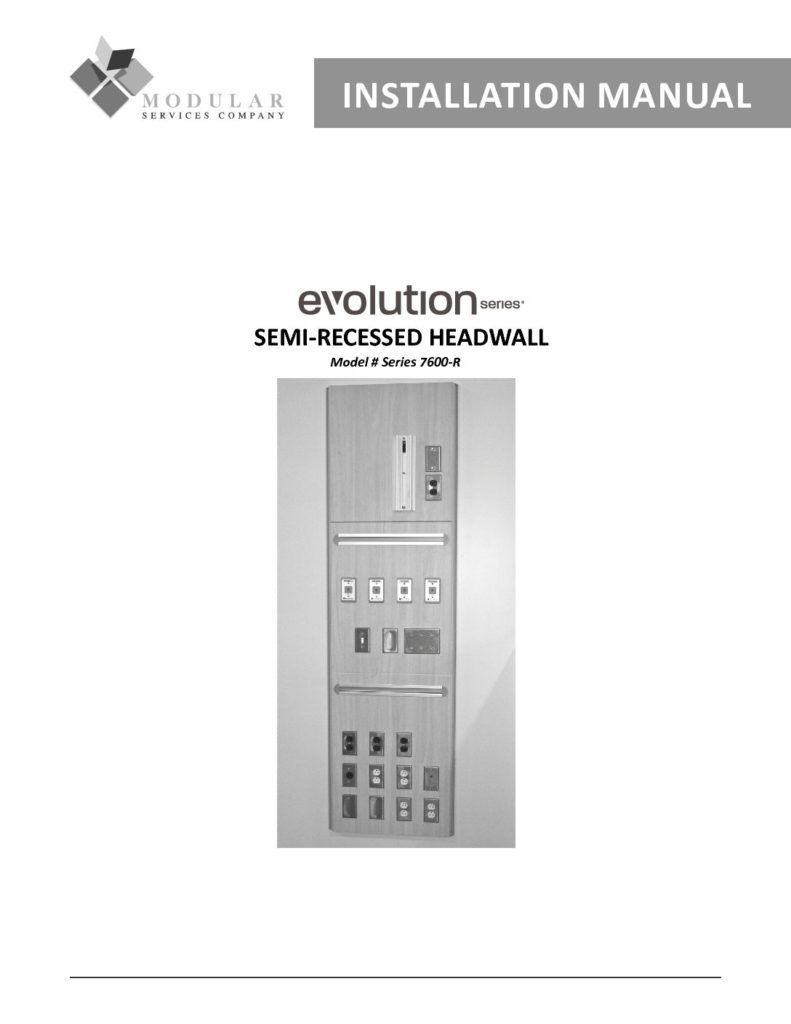 Evolution Series® 7600-R Installation Manual