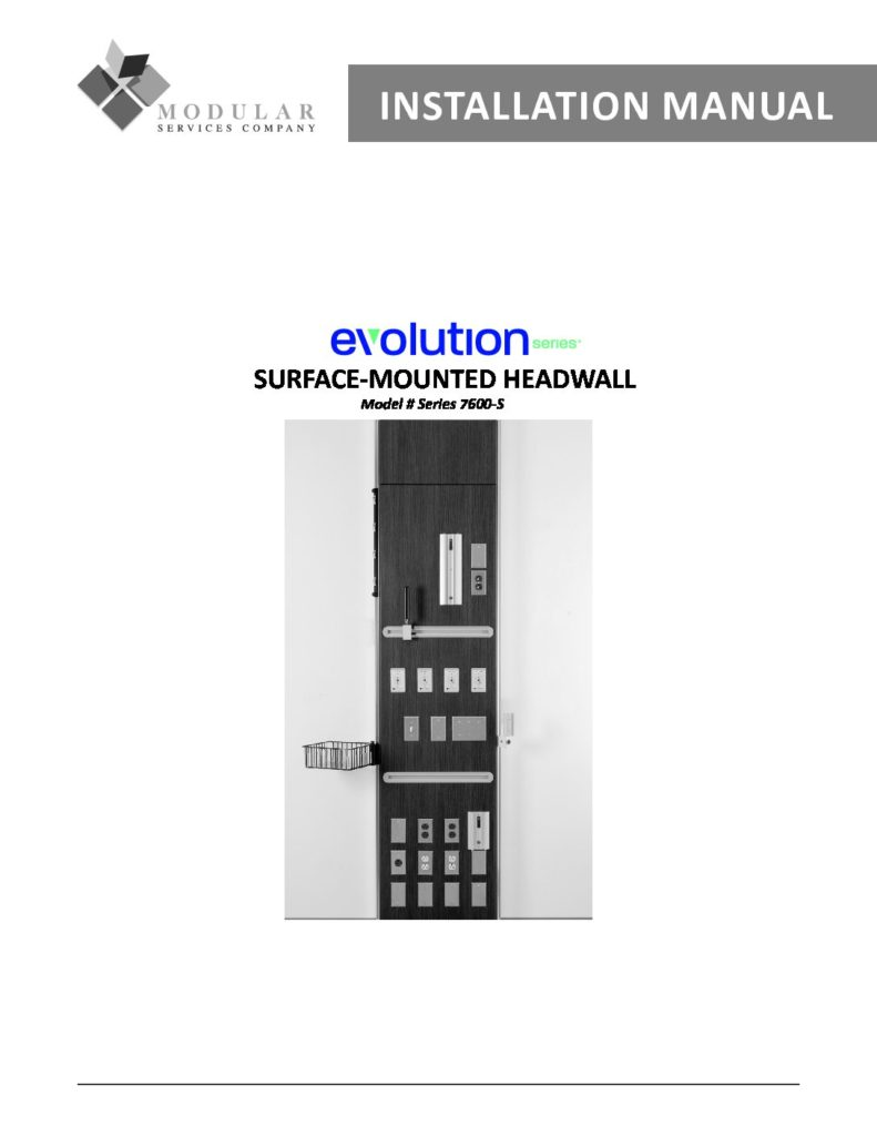 Evolution Series® 7600-S Installation Manual