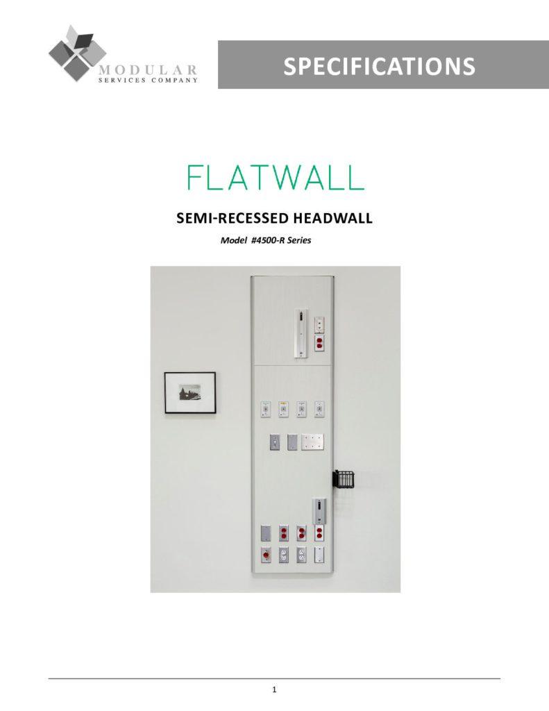 Flatwall 4500-R Series Specs