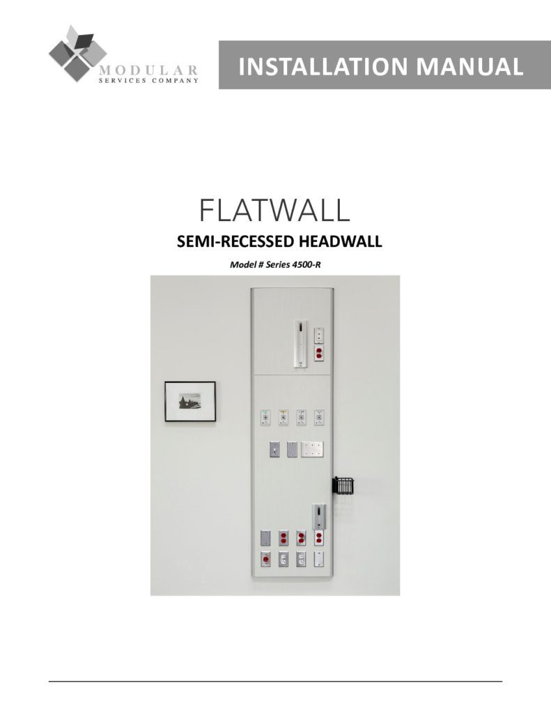 Flatwall 4500-R Series Installation Manual