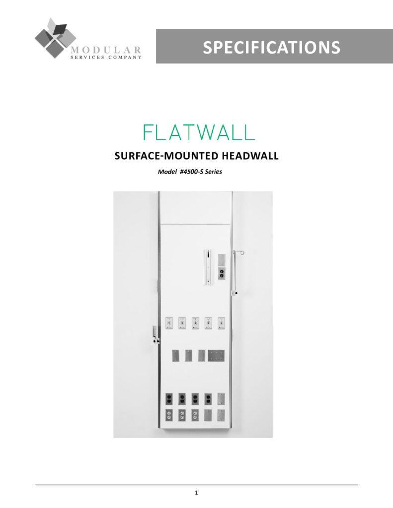 Flatwall 4500-S-Series Specs