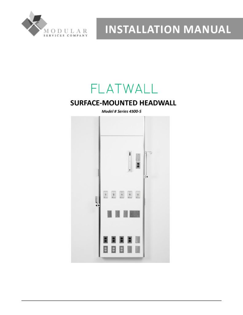 Flatwall 4500-S Series Installation Manual