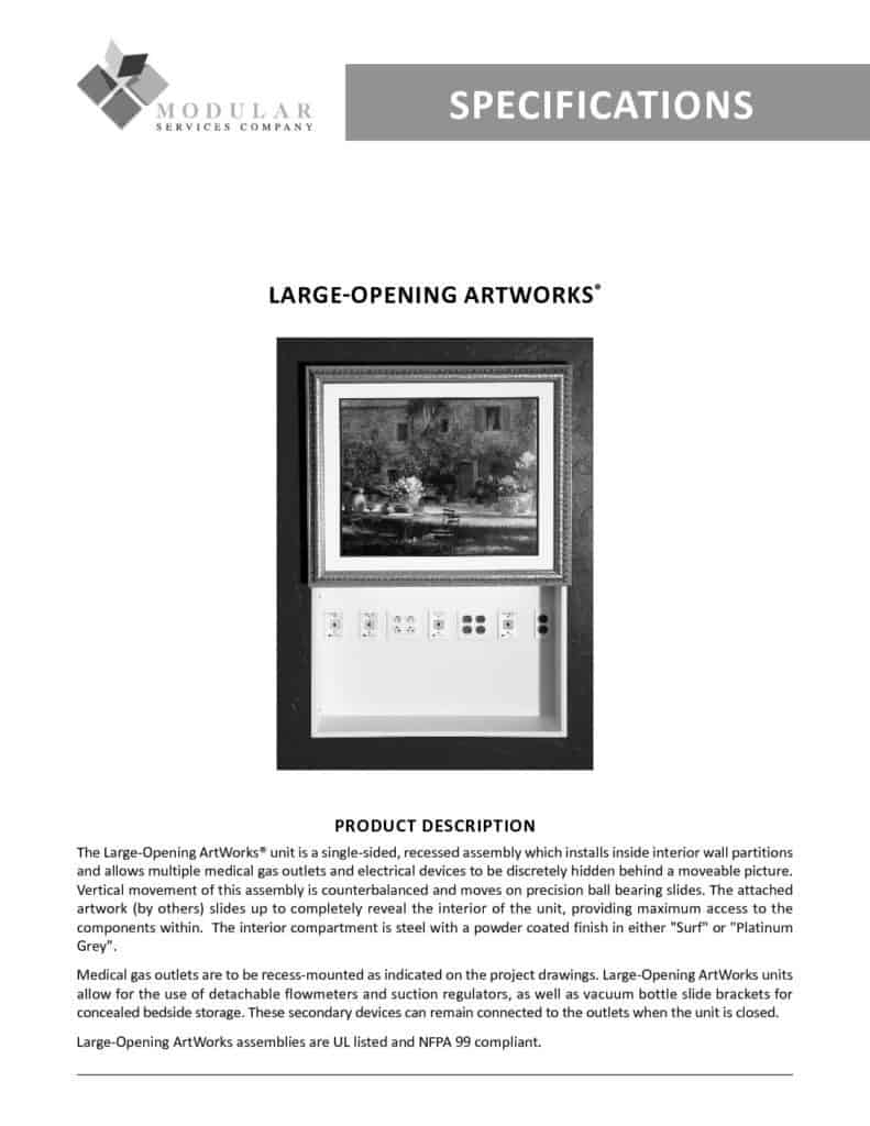 Large Opening ArtWorks® Specs