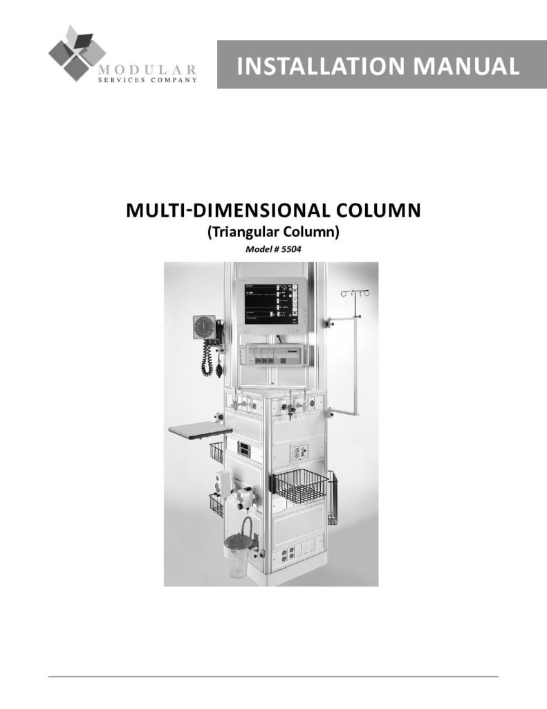 Multi-Dimensional Column Installation Manual
