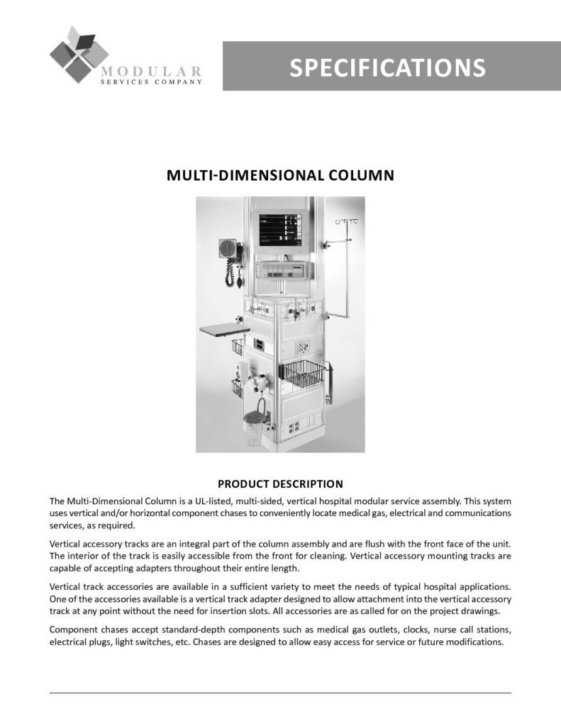 Multi-Dimensional Column Specs