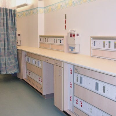 NICU Bay Casework Sideview