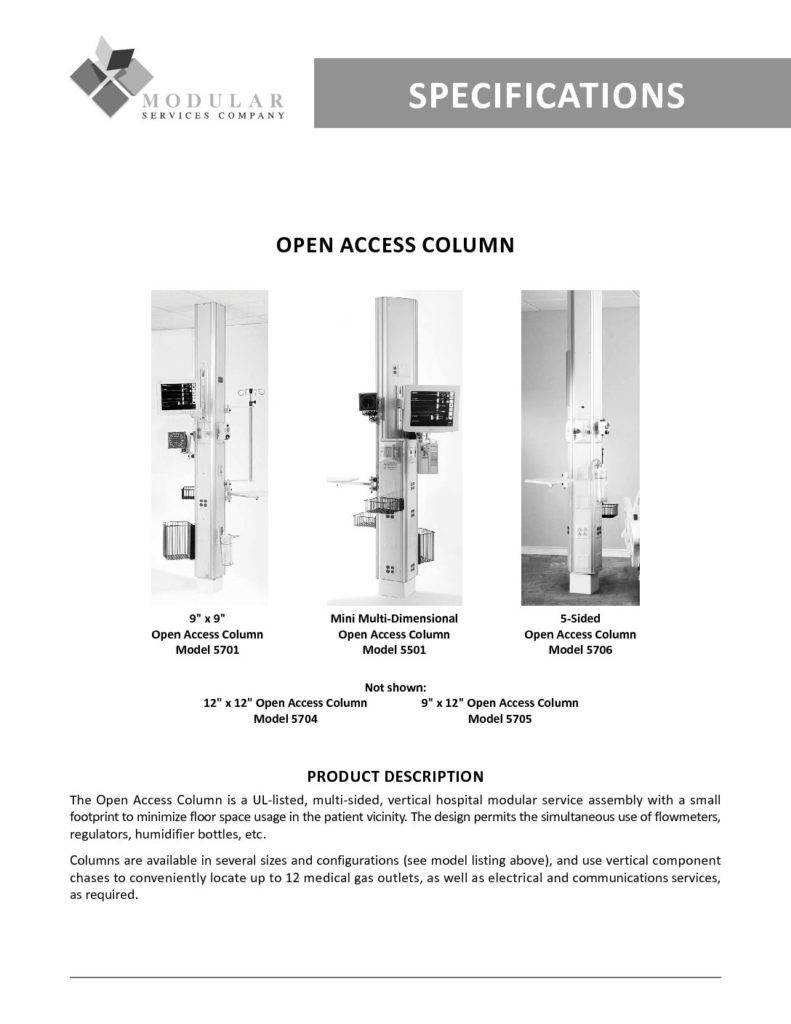 Open Access Column Specs