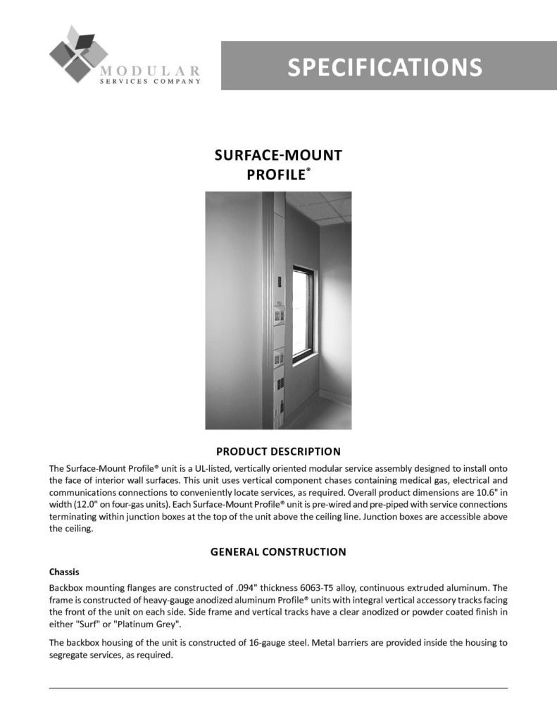 Profile® (Surface-Mount) Specs