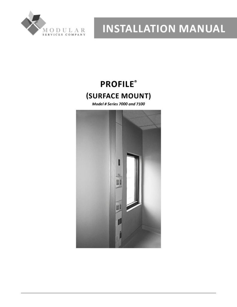 Profile® (Surface-Mount) Installation Manual