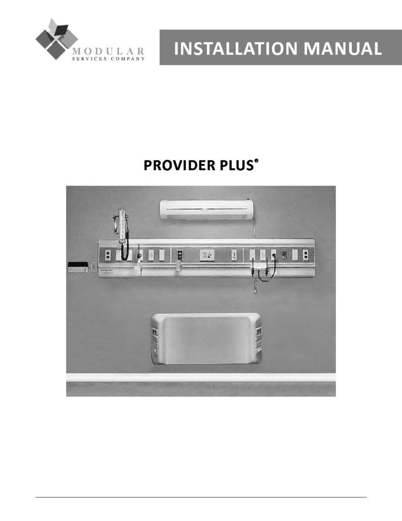 Provider Plus® Installation Manual