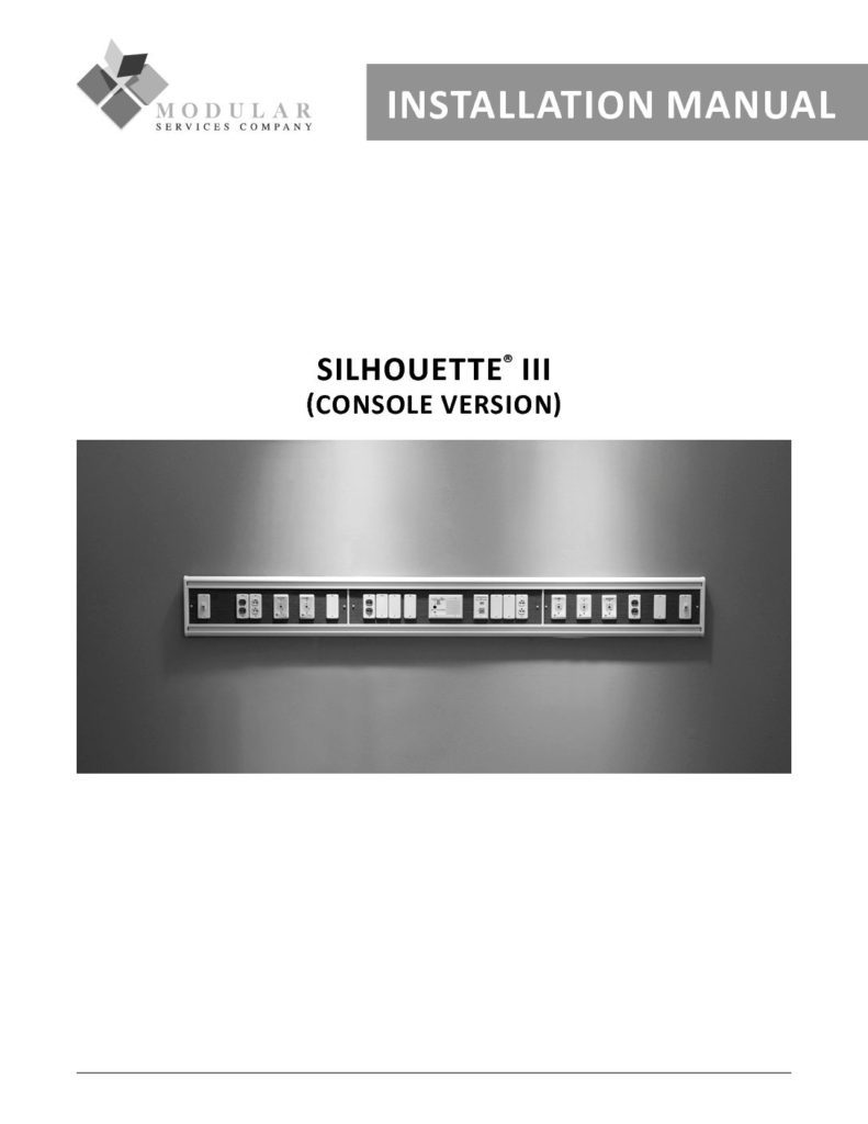 Silhouette® III (Console) Installation Manual