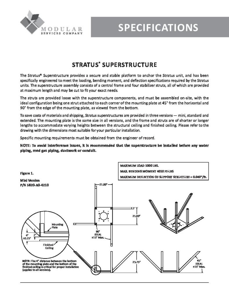 Stratus® Superstructure Specs