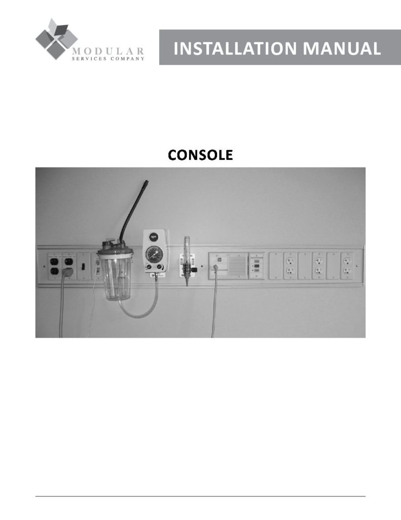 Console Installation Manual