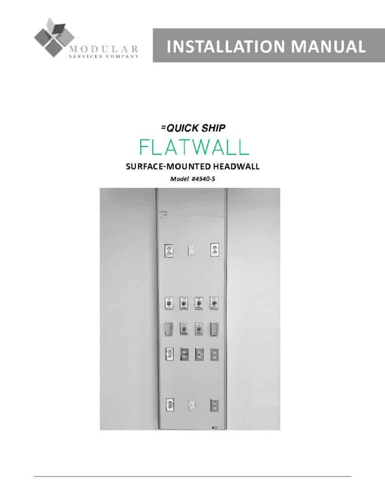 Flatwall 4540-S Installation Manual