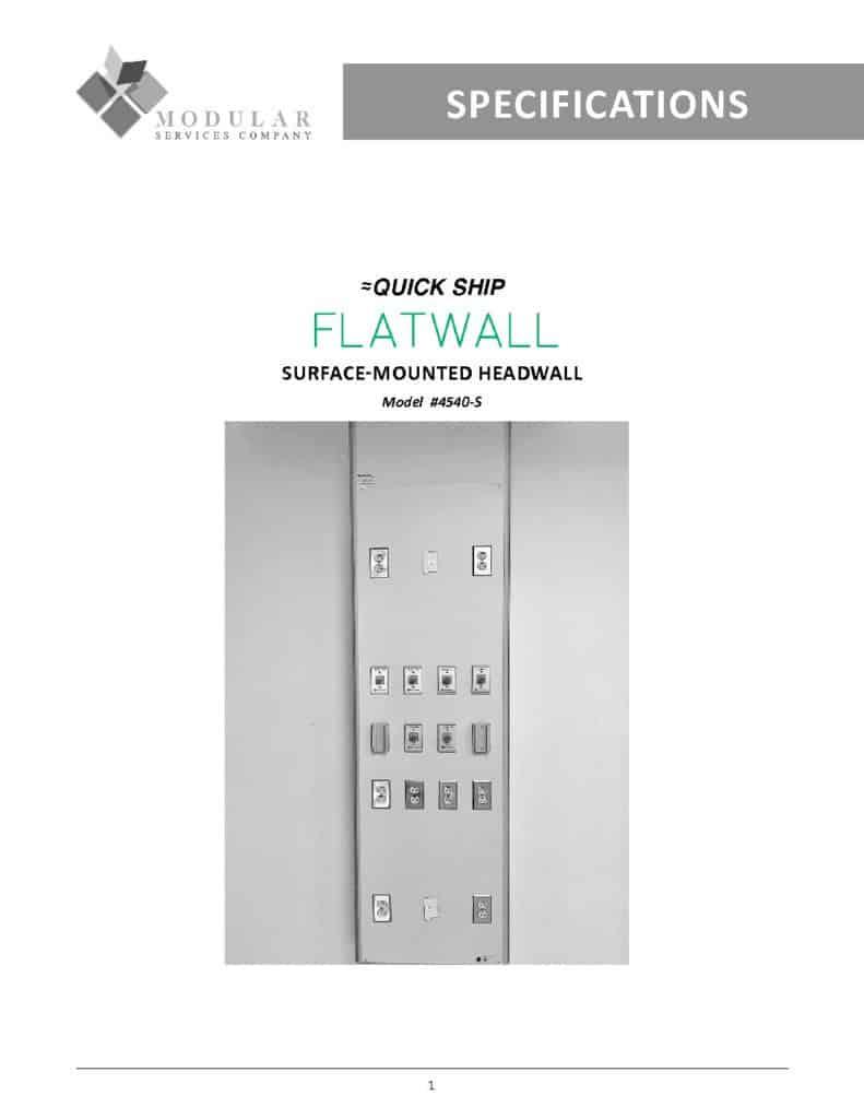 Flatwall 4540-S Specs